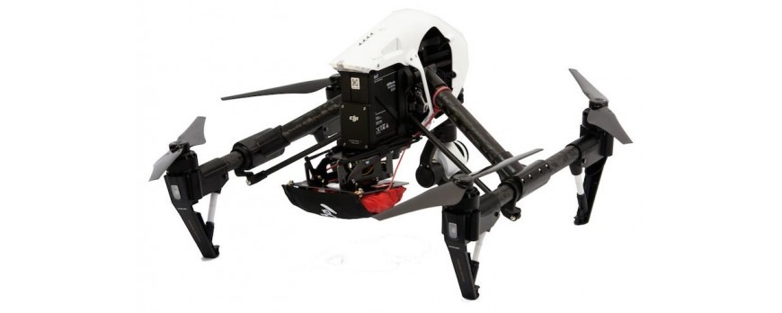 New parachute kit for the DJI Inspire from Opale Paramodels !